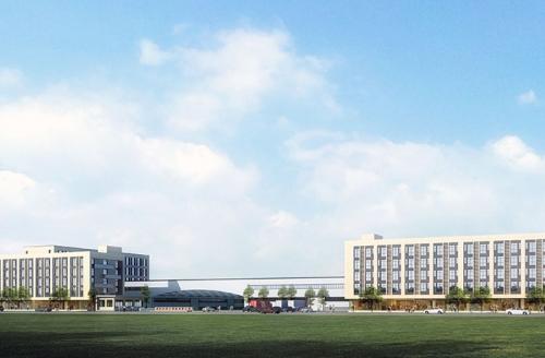 红日子新厂区沿街透视图
